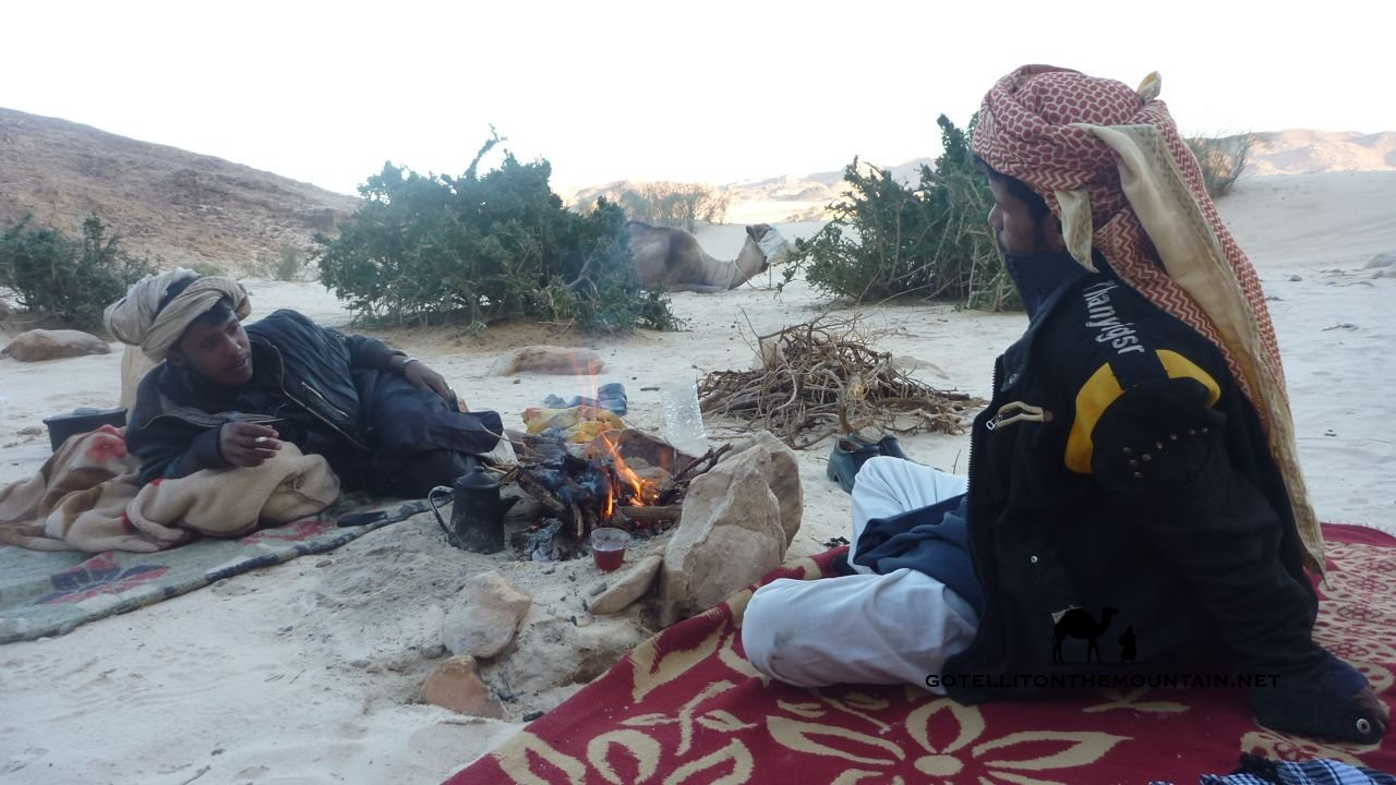 Fire, Bedouin, Go tell it on the mountain