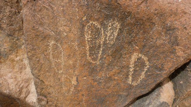 Footprint rock, Sinai, Go tell it on the mountain